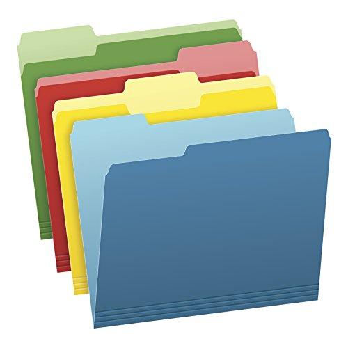 Pendaflex Two-Tone Color File Folders, Letter Size, Assorted Colors (Bright...