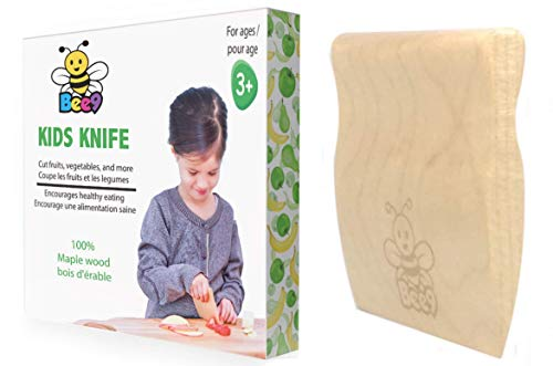 Safe Wood Kids Knife - cuts fruits and vegetables, not fingers