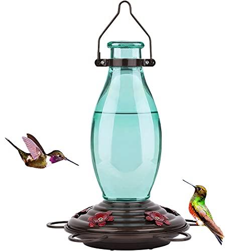 BOLITE 18001 Hummingbird Feeder Glass Wild Hummingbird Feeders for...