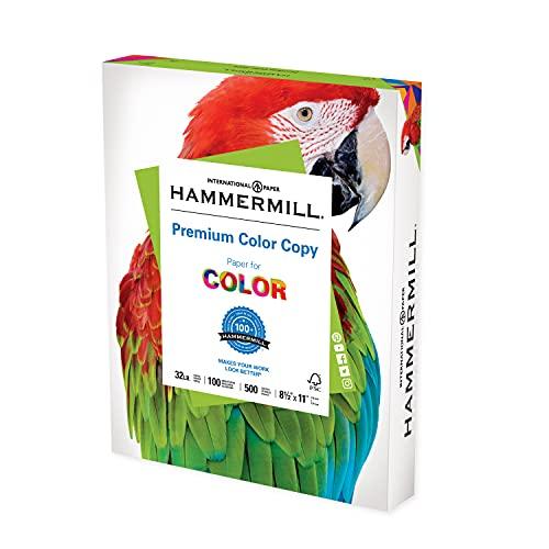 Hammermill Printer Paper, Premium Color 32 Lb Copy Paper, 8.5 x 11 - 1 Ream...