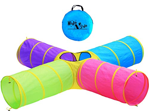 Hide N Side Kids Play Tunnels, Indoor Outdoor Crawl Through Tunnel for Kids...