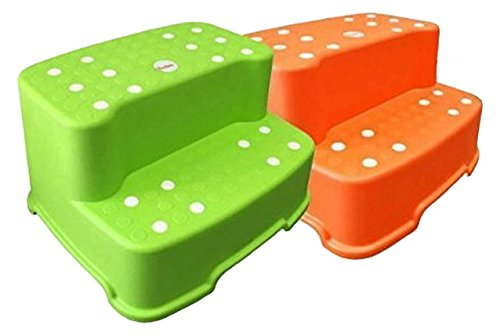 Tenby Living 2-Pack Green and Orange Extra-Wide, Extra-Tall Jumbo Step...