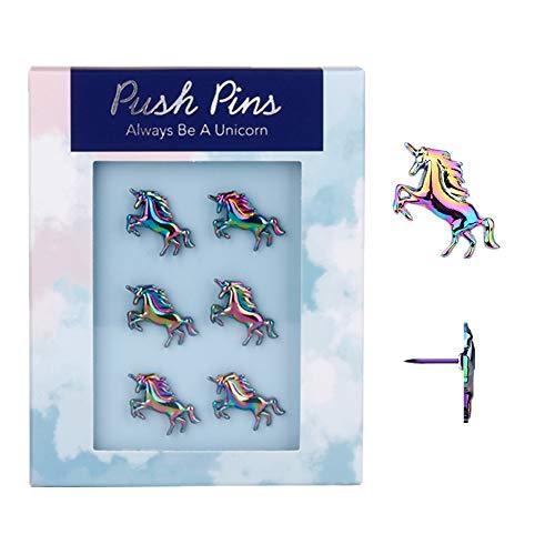 Rainbow Creative Unicorn Push Pins Novelty Decorative Thumb Tacks Set 6pcs...