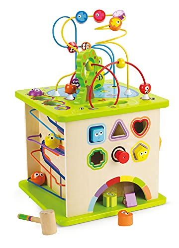 Country Critters Wooden Activity Play Cube by Hape | Wooden Learning Puzzle...