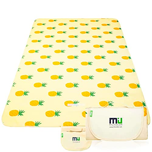 """MIU COLOR Extra Large Picnic Blankets, Outdoor Blanket 80""""x60"""" Dual Layers,..."""