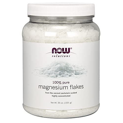 NOW Solutions, Magnesium Flakes, 100% Pure, from the Ancient Zechstein...