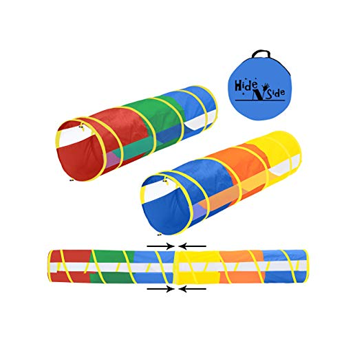 Hide N Side 2-Pack 6ft/12ft Crawl Through Play Tunnel Toy, Pop up Tunnel...