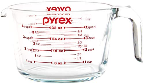 Pyrex SYNCHKG039125 4 Measuring Cup, Clear with Red Graphics