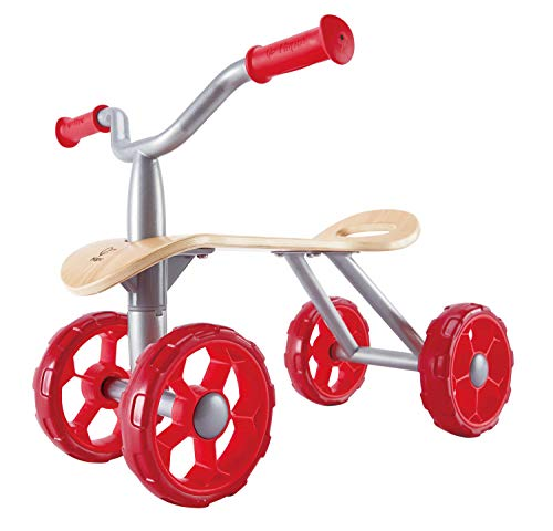 Hape Trail Rider | Award Winning Four Wheeled Scooter, Wooden Push Balance...