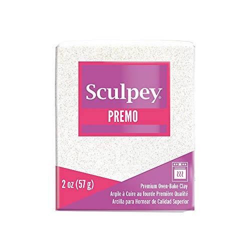 Sculpey Premo Polymer Oven-Bake Clay, Frost White Glitter, Non Toxic, 2 oz....