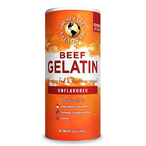 Great Lakes, Beef Gelatin, 16 Oz Can Kosher, Paleo-Friendly, Keto...