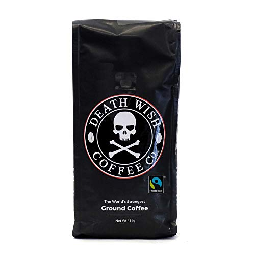 Death Wish Ground Coffee, The World's Strongest Coffee, Fair Trade and USDA...