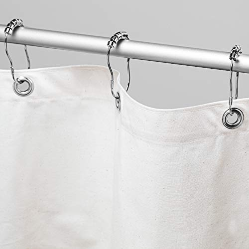 Bean Products Organic Cotton Shower Curtain (White), [70' x 74'] | All...
