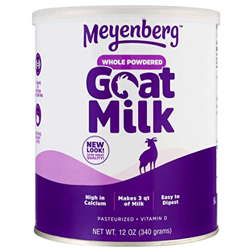Meyenberg Whole Powdered Goat Milk (12 Ounce), Gluten Free, Non GMO,...