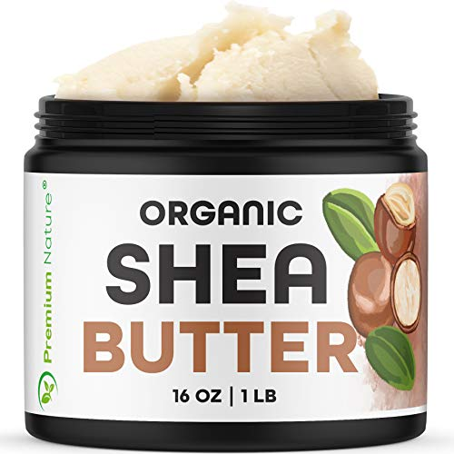 Shea Butter Raw Organic African - 16 oz Pure Virgin Unrefined Body Butter...