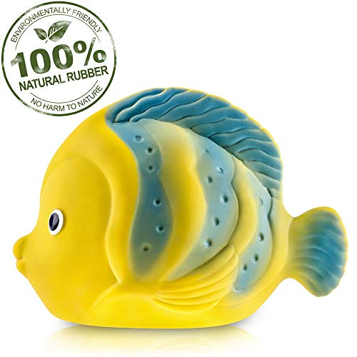 Pure Natural Rubber Baby Bath Toy - La the Butterfly Fish - Without Holes,...