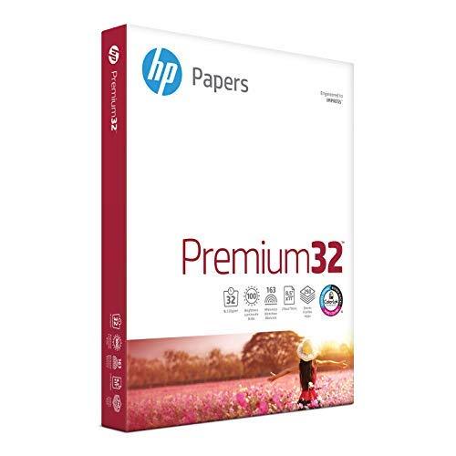 HP Printer Paper, Premium32, 8.5x11, Letter, 32lb Paper, 100 Bright - 1...