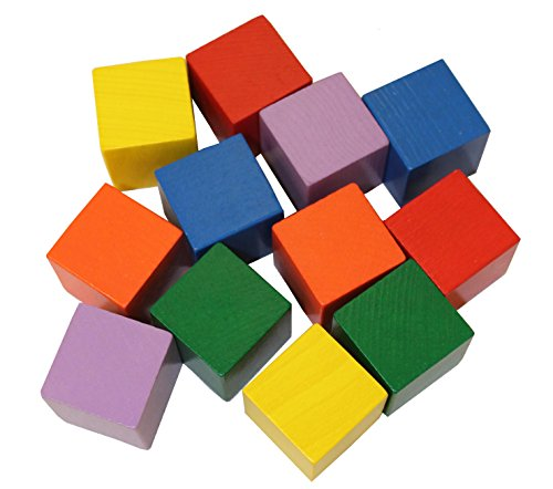 HABA Baby's First Basic Block Set - 12 Colorful Wooden Cubes (Made in...