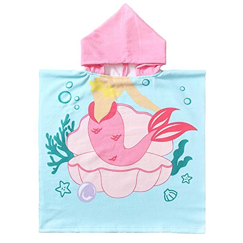 NovForth Kids Beach Towel for Boys Girls, Hooded Bath Towel Wrap, Toddler...