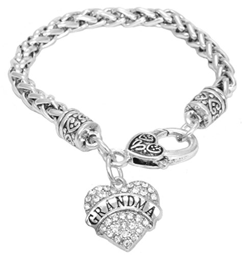 for Grandma Bracelet Engraved Gift Jewelry for Grandma Crystal Adorned...