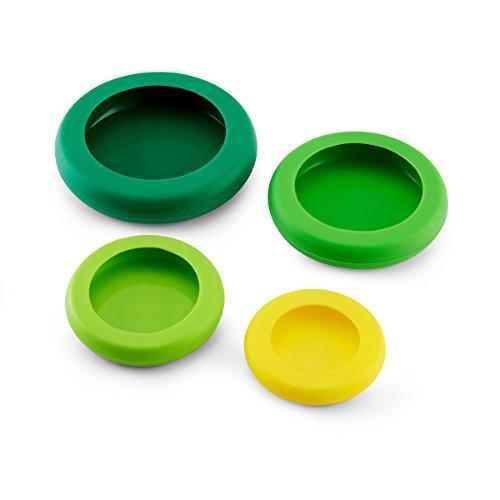 Farberware Food Huggers Reusable Silicone Food Savers, Set of 4, Fresh...