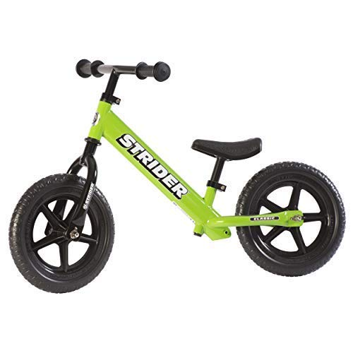 Strider #12 Classic No-Pedal Balance Bike, Green