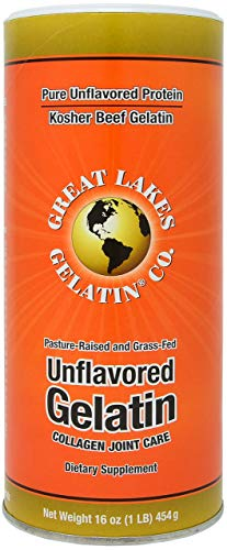 Great Lakes Gelatin, Pure Unflavored Protein, Kosher Beef Gelatin, 16 Ounce...