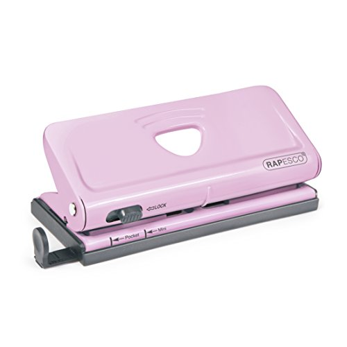 Rapesco Adjustable 6-Hole punch for Planners and 6-Ring Binders - Pink, 320...