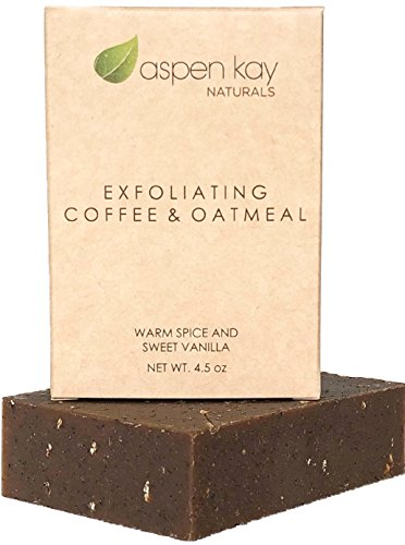 Coffee & Oatmeal Exfoliating Soap, 100% Natural and Organic Soap. Loaded...