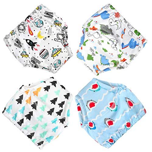 MooMoo Baby CottonTraining Pants 4 Pack Padded Toddler Potty Training...