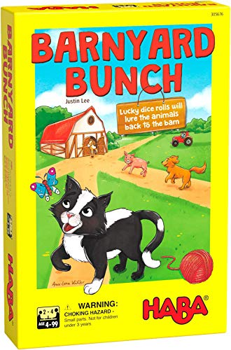 HABA Barnyard Bunch - A Cooperative Dice Rolling Racing Game for Ages 4 and...