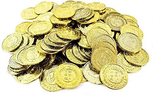 "Amscan Plastic Coin Mega Party Favors   Gold   400 Pcs, 10 1/4"" x 7 1/4"""