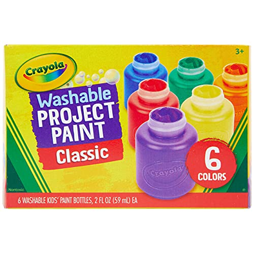 Crayola Washable Kids Paint, 6 Count, Kids At Home Activities, Painting...