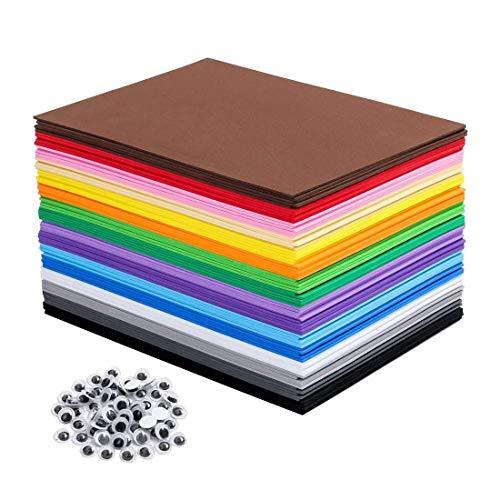 80 PCS EVA Foam Handicraft Sheets, Craft Foam Sheets Assorted Colorful for...