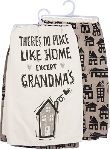 Primitives by Kathy Dish Towel Set - There's No Place Like Home Except...
