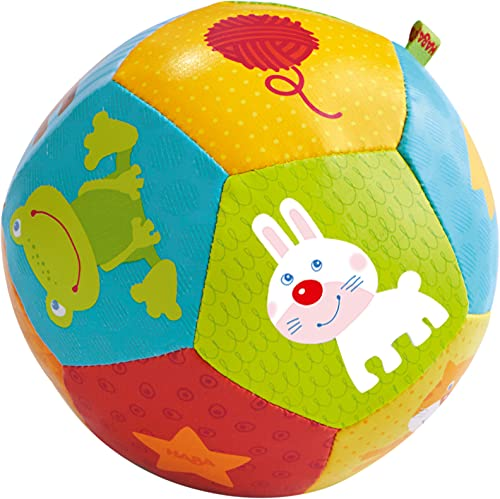 HABA Baby Ball Animal Friends 4.5' for Babies 6 Months and Up
