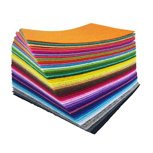 flic-flac 48PCS 8 x 12 inches (20 x 30cm) Assorted Color Felt Fabric Sheets...