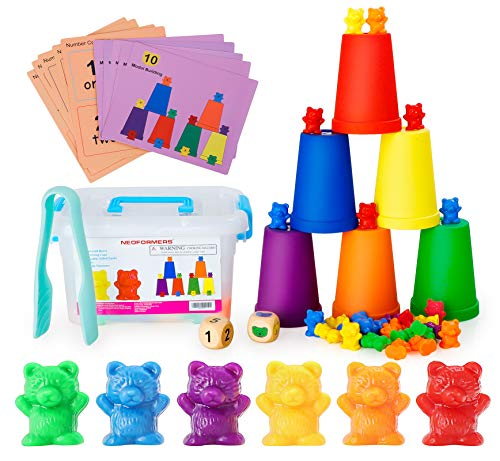 Neoformers Counting Bears with Matching and Sorting Cups, Preschool Math...