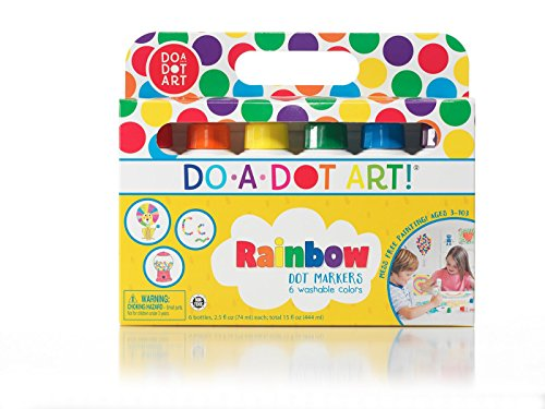 Do A Dot Art! Markers 6-Pack Rainbow Washable Paint Markers, The Original...