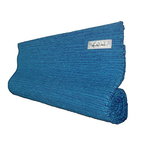 Ekaminhale Organic Yoga Rug - Blue - 70 x 198 cm