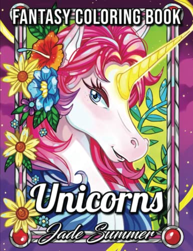 Unicorn Coloring Book: An Adult Coloring Book with Magical Animals, Cute...