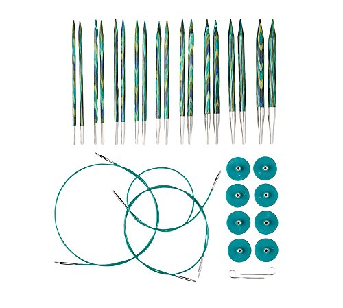Knit Picks Options Wood Interchangeable Knitting Needle Set - US 4-11...