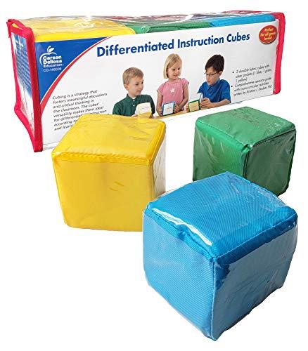 Carson Dellosa Differentiated Instruction Cubes—Blue, Yellow, Green Foam...