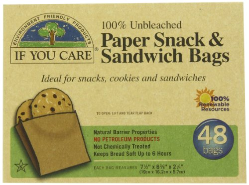 IF YOU CARE 100% Unbleached Paper Sandwich AND Snack Bags, 48-Count...
