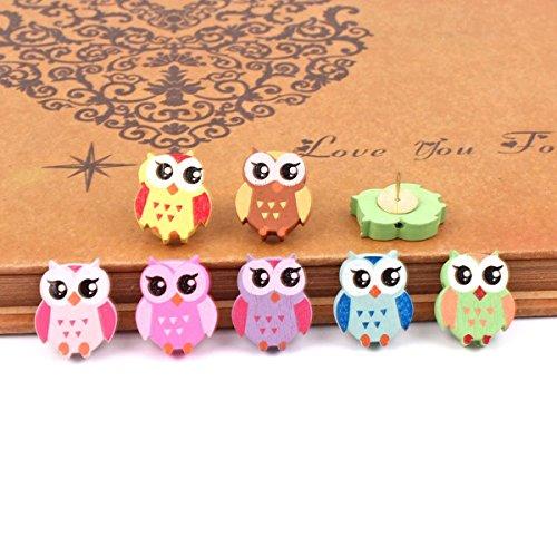 Yalis 12 Pcs Owl Push Pins,Creative Pushpins/Thumbtacks Decorative for...