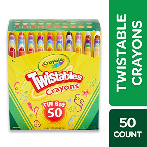 Crayola Twistables Crayons Coloring Set, Age 3+ - 50 Count