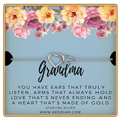 KEDRIAN Grandma Bracelet, 925 Sterling Silver, Best Grandma Gifts For...