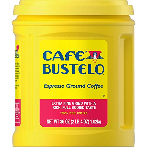 Café Bustelo Espresso Extra Fine Dark Roast Ground Coffee, 36 Ounces