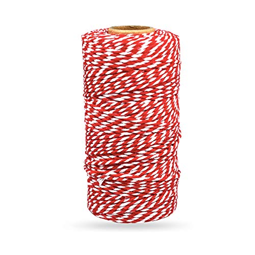 Bakers Twine Red and White, LaZimnInc Cotton Twine Packing String for...