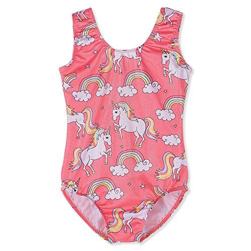 Gymnastics Leotards for Toddler Girls Unicorn 2t 3t Pink Colorful Rainbow...
